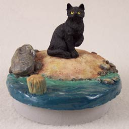 "conversation concepts Black Shorthaired Tabby Cat Candle Topper Tiny One ""A Day at the Beach"" at Sears.com"