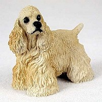 Cocker Spaniel Blonde Standard Figurine