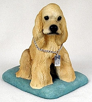 Cocker Spaniel Blonde My Dog Figurine