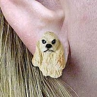Cocker Spaniel Blonde Earrings Post