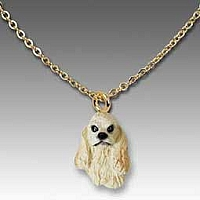 Cocker Spaniel Blonde Tiny One Pendant