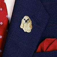 Cocker Spaniel Blonde Pin