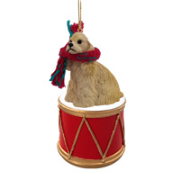 Cocker Spaniel Blonde Drum Ornament
