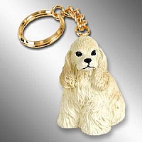 Cocker Spaniel Blonde Key Chain