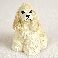 Cocker Spaniel Blonde Tiny One Figurine
