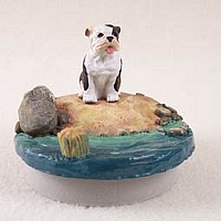 Bulldog Brindle Candle Topper Tiny One