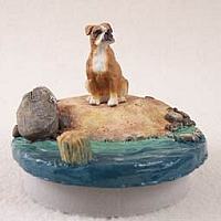 Boxer w/Uncropped Ears Candle Topper Tiny One