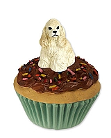 Cocker Spaniel Blonde Pupcake Trinket Box