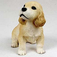 Cocker Spaniel Blonde Puppy Figurine