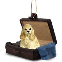 Cocker Spaniel Blonde Traveling Companion Ornament