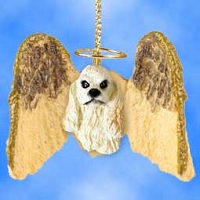 Cocker Spaniel Blonde Hanging Angel Ornament