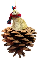 Cocker Spaniel Blonde Pinecone Pet Ornament