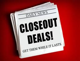 Click to shop for Closeouts!