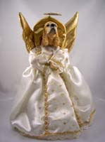 Cocker Spaniel Blonde Angel Tree Topper