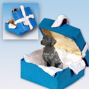 German Short Haired Pointer Gift Box Blue Ornament