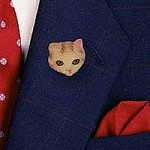 Red Tabby Manx Pin