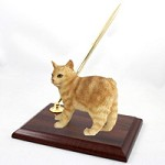 Red Tabby Manx Pen Set