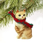 Red Tabby Manx Original Ornament