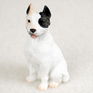 Pit Bull Terrier White Tiny One Figurine