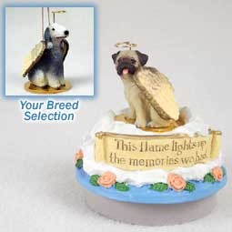 Bedlington Terrier Candle Topper Tiny One Pet Angel Ornament