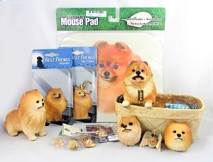 Assortment of Red Pomeranian Gift Items